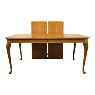 French Country Pennsylvania House Solid Oak Dining Table For Sale