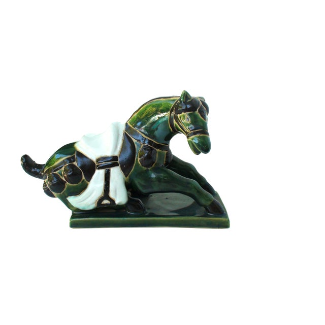 Tang Porcelain Reclining Horse - Image 1 of 2