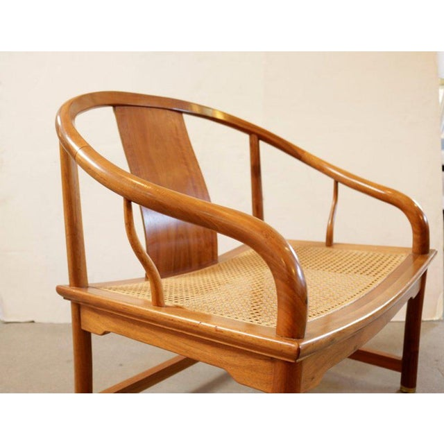 Michael Taylor Michael Taylor for Baker Far East Collection Caned Chair For Sale - Image 4 of 7