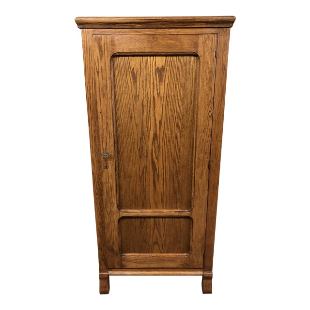 Converted Oak Armoire For Sale