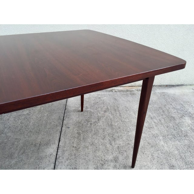 Mid-Century Expandable Walnut Dining Table - Image 8 of 11