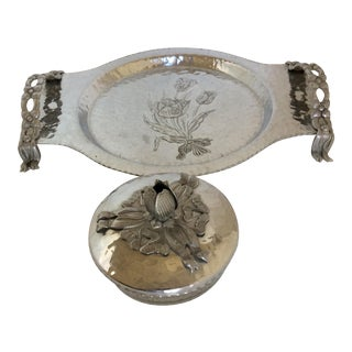 Hand Wrought Creations Tulip Pie Tray by Rodney Kent