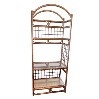 Chippendale Style 3 Tier Arched Bent Wood Étagère For Sale