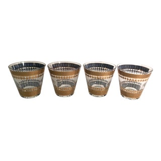 Vintage Culver Rock Glasses - Set of 4 For Sale