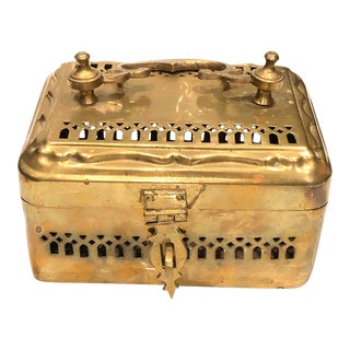 Large Cricket Brass Box For Sale