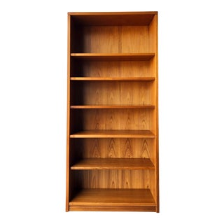 Vintage Mid Century Modern Danish Style Tall Bookcase. For Sale