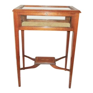 1980s Traditional Mahogany Table Top Vitrine For Sale