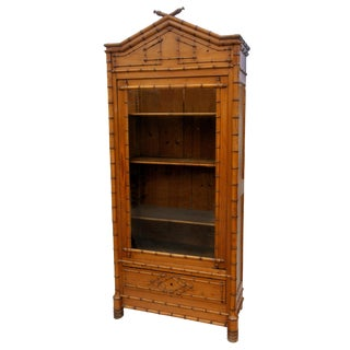 19th Century French Faux Bamboo Armoire For Sale