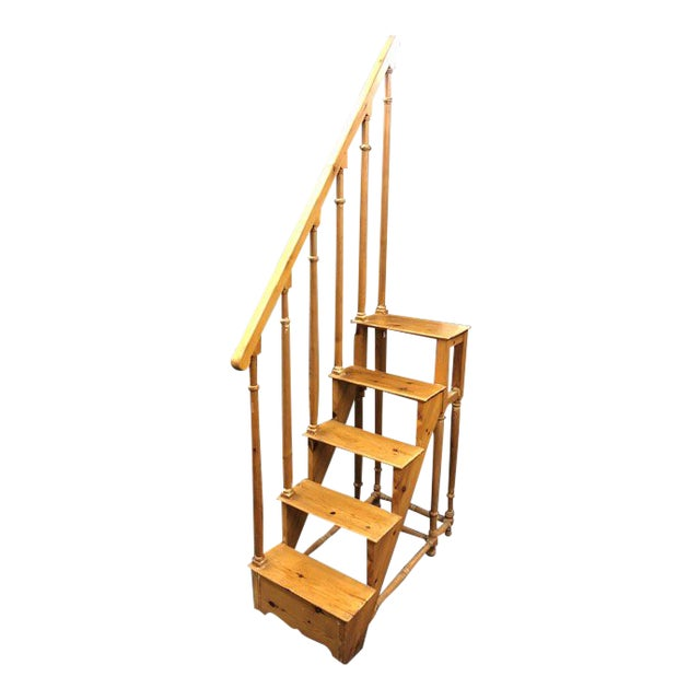 1950s Antique Edwardian Library Steps For Sale
