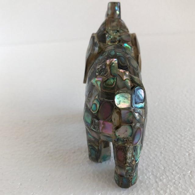 Vintage Abalone Shell Inlay Elephant Figure - Image 8 of 11