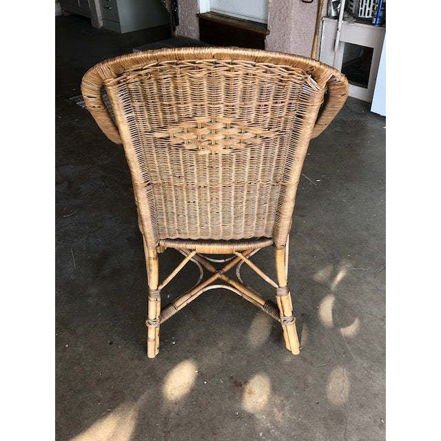 Antique Wicker Chairs-A Pair For Sale - Image 10 of 11