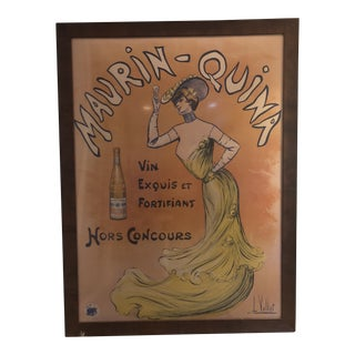 """Vintage French """"Maurin-Quina"""" Framed Poster"""