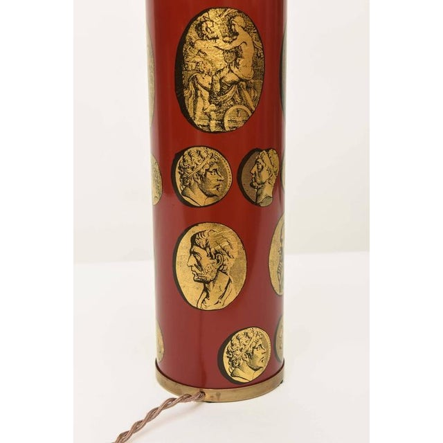 Gold Piero Fornasetti Cameo Table Lamp For Sale - Image 8 of 8