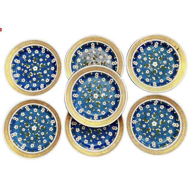 19th Century Wedgwood Blossom Plates - Set of 7 For Sale - Image 12 of 12