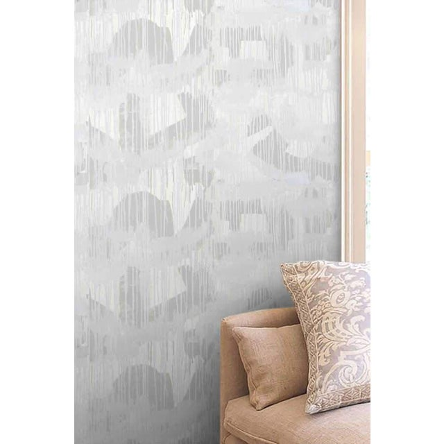 """CLOUD ROOM GREY"" wallpaper is a soft pattern based on an original artwork by Nashville artist Angela Simeone. This color..."