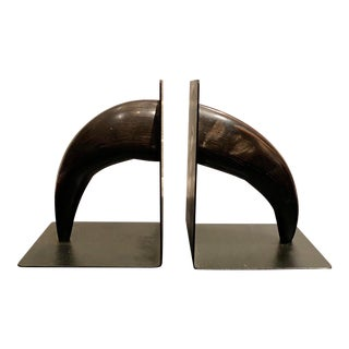 Bauhaus Aubock Horn Bookends - a Pair For Sale