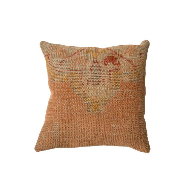 Vintage Turkish Rug Fragment Throw Pillow For Sale