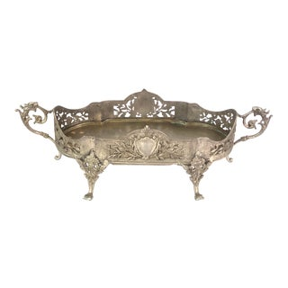 French Patinated Silver-Plated Jardiniere For Sale