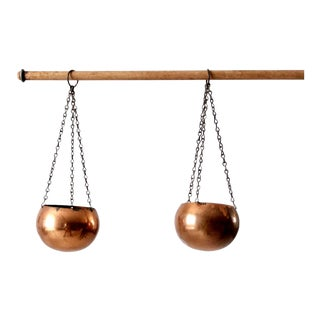 Coppercraft Guild Hanging Copper Planters - Set of 2 For Sale