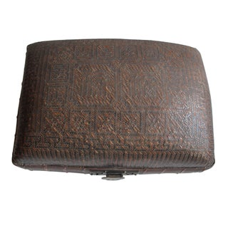 Antique Chinese Woven Trunk Preview