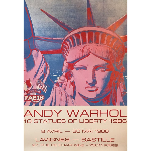 Andy Warhol Exhibition Poster Statue of Liberty - Image 2 of 4