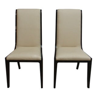 Vintage Mastercraft Amboyna Neo Classical Dining Room Side Chairs- A Pair For Sale
