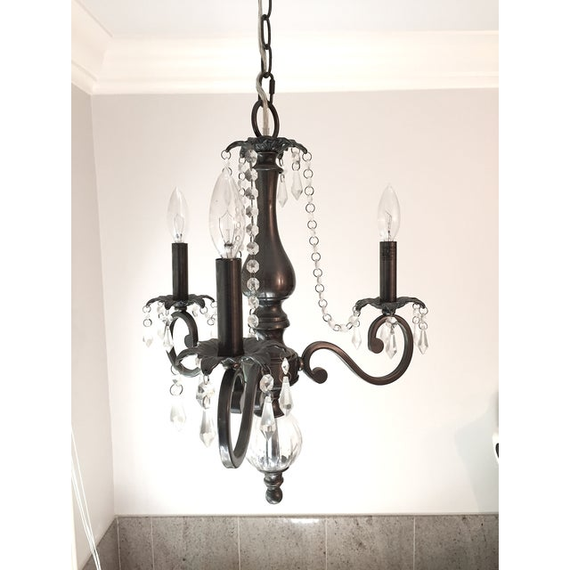3 Arm Chandelier with Crystal Details - Image 2 of 6
