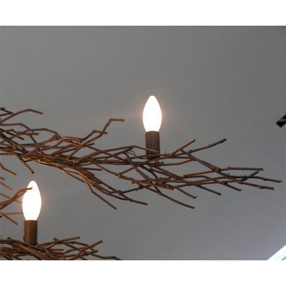 Tracey Garret Monumental Twig Plaster Chandelier For Sale - Image 4 of 8