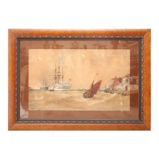 Outstanding and Enormous Marine Painting by Thomas Bush Hardy For Sale
