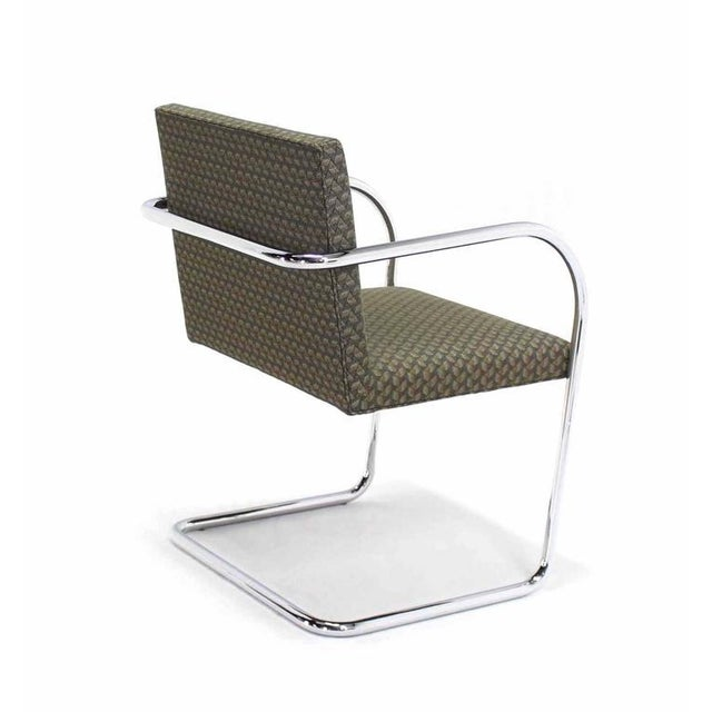 Chrome Pair of Mies Brno Side office dining Chairs for Knoll For Sale - Image 7 of 10