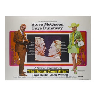 Original Thomas Crown Affair 1968 British Film Poster For Sale