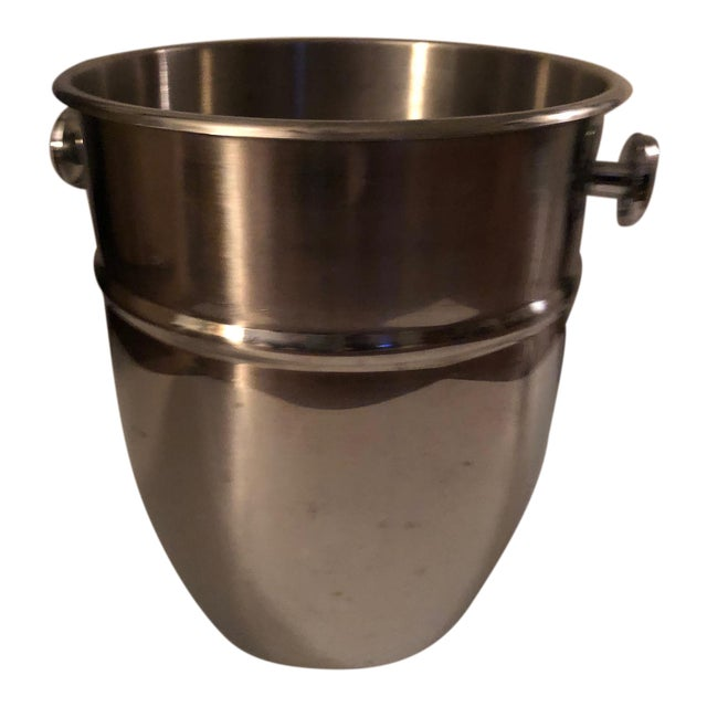 Vintage Stainless Steel Champagne Ice Bucket For Sale