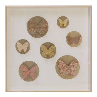 Hand-Cut Paper Butterfly Box For Sale