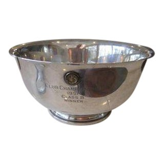Paul Revere 1768 Reproduction Bowl Sterling Woodmere Trophy