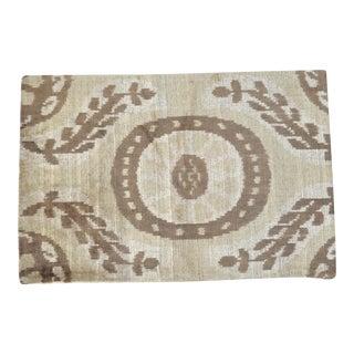 Brown Silk Velvet Throw Pillow For Sale