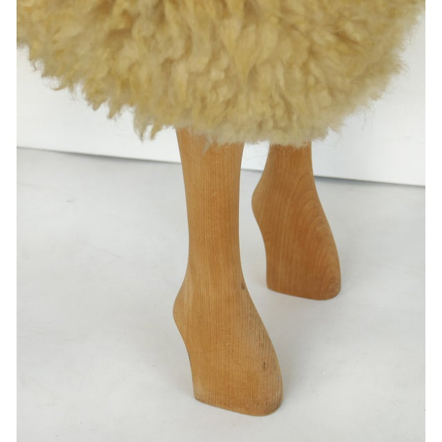 Leather Lifesize Sheep & Lamb Sculptures by Hanns-Peter Krafft- Set of 2 For Sale - Image 7 of 10