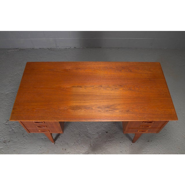 Danish Modern Teak Desk For Sale In Boston - Image 6 of 10