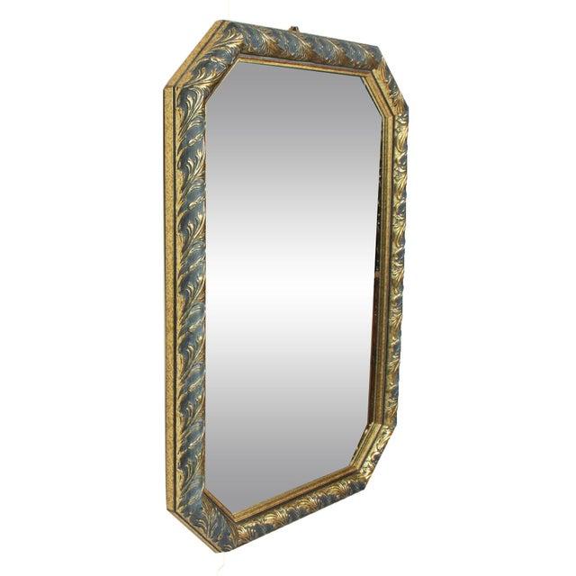 1970s Vintage Black & Gold Octagonal Hall Mirror - Image 2 of 3