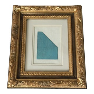 Blue Geometric Framed Painting Kimberly Moore For Sale