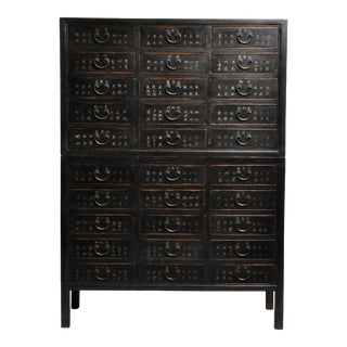 Late 19th Century Chinese Medicine Chest With Drawers For Sale