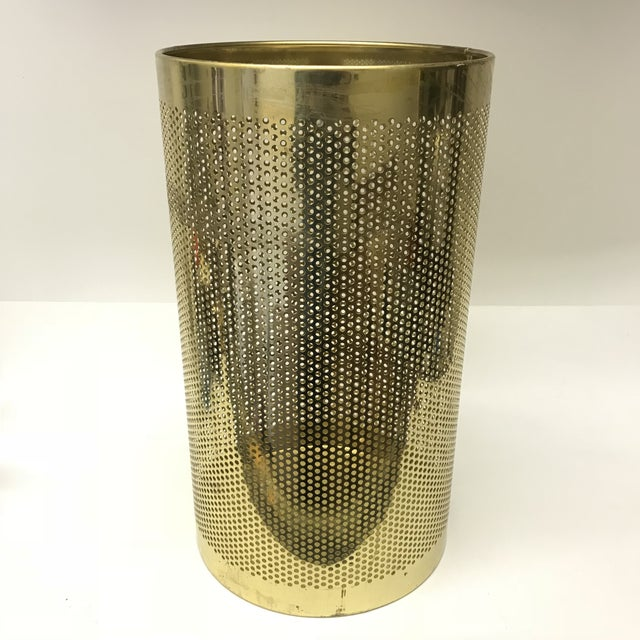 Perforated Brass Bin For Sale - Image 5 of 5