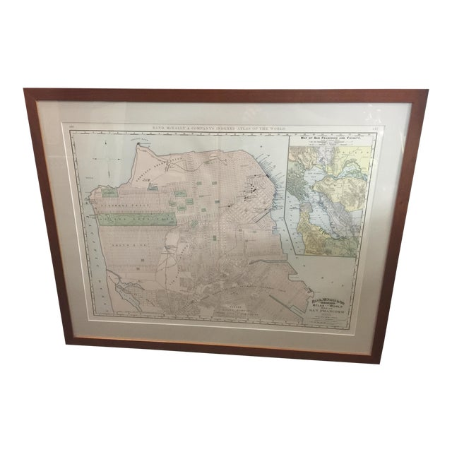 1891 Rand McNally & Co Map of San Francisco For Sale