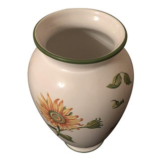 Traditional Style Tiffany & Co. Floral Ceramic Vase
