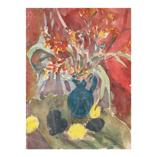 Victor DI Gesu, 'Still Life', California Post-Impressionist Floral, Louvre, Lacma, Circa 1955 For Sale
