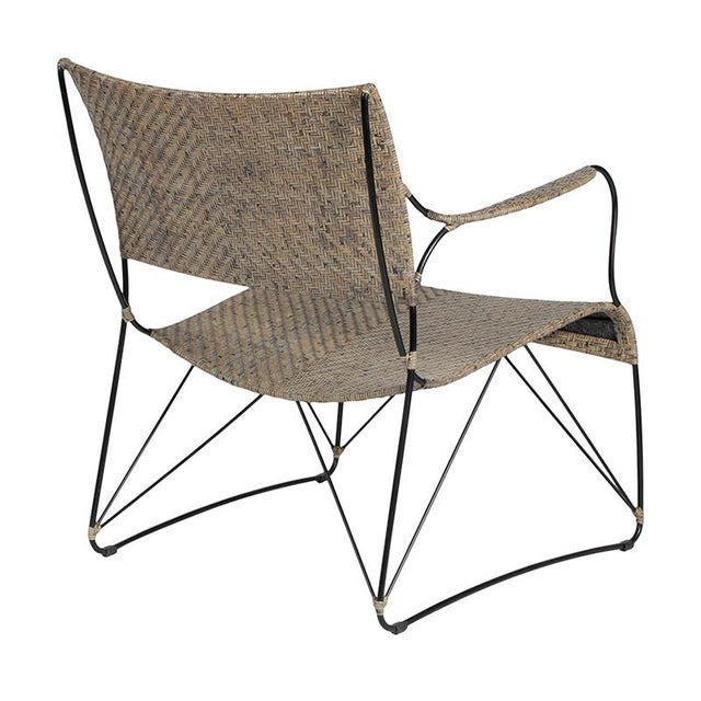 2010s David Francis Indoor Seto Lounge Chair - Gray For Sale - Image 5 of 6