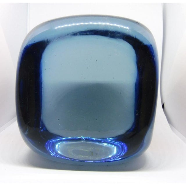 Mid-Century Modern 1970s Vintage Pierre Cardin for Venini Murano Glass Paperweight For Sale - Image 3 of 10