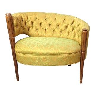 Vintage Yellow Boudoir Chair