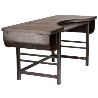 Early 20th Century French Metal Postmasters Desk For Sale