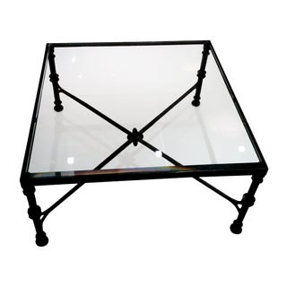 Holly Hunt Glass Top Coffee Table