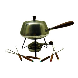 Vintage Retro Fondue Set